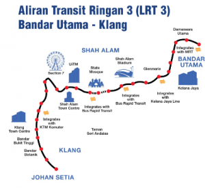 Aliran transit ringan 3 shah alam lrt line