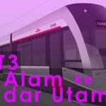 Dekat je Shah Alam dengan Bandar Utama - LRT3