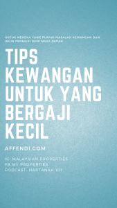 Tips Kewangan Gaji Kecil 1